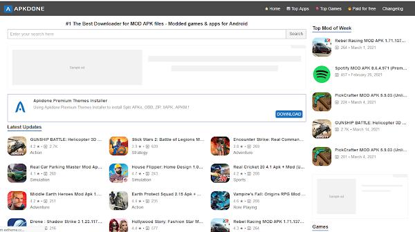 Apkdone Premium APK Sites Wordpress Theme