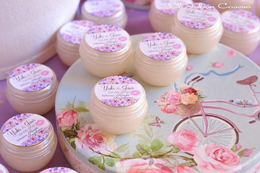 detalles para bodas balsamos personalizados naturales