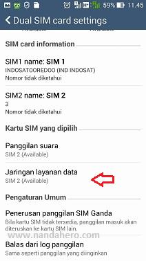 Cara Mengatur Kartu untuk Internet di Android Asus Zenfone  Tutorial Mengatur Kartu Sim untuk Internet di Android Asus Zenfone 5