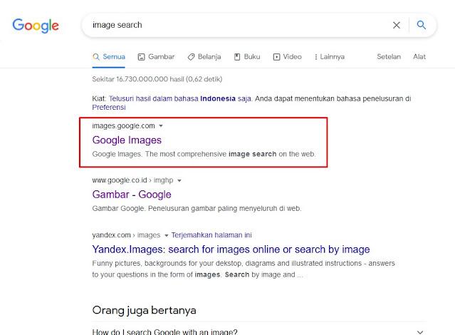 Image Search di Search engine