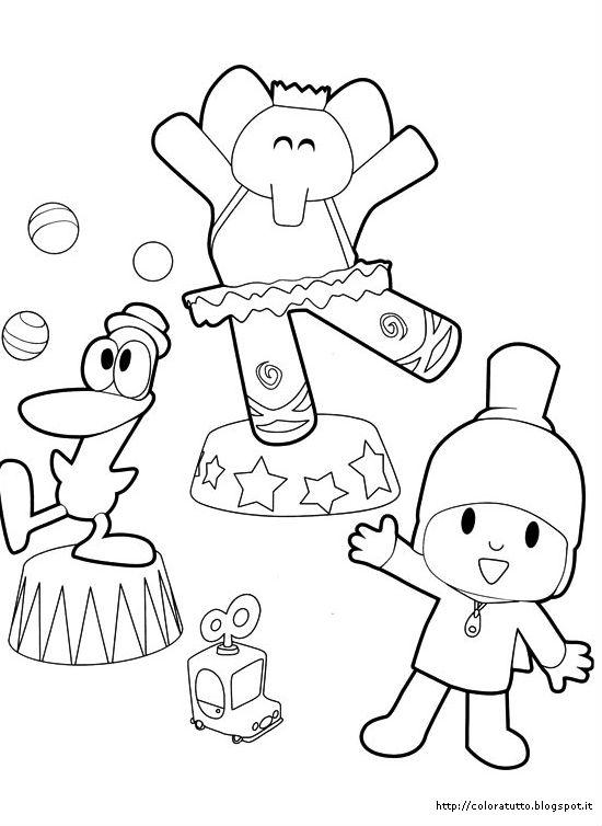 Pocoyo disegno da colorare n 3 for Disegni inazuma eleven da stampare