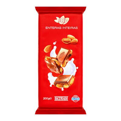 Chocolate con leche con almendras enteras Hacendado