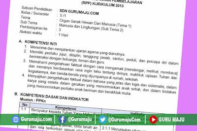 RPP Kelas 5 Tema 1 Kurikulum 2013 Revisi Tahun 2019