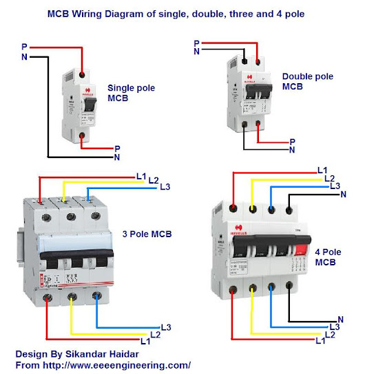 Wiring Diagram For Rcd Mcb : Pole rcd wiring diagram images