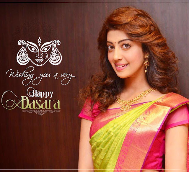Pranitha Subhash wishing Happy Dasara photos