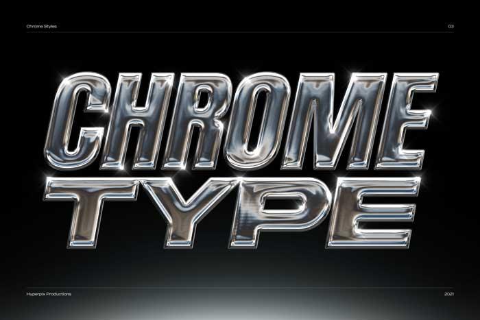 3D Chrome Text Effect PSD Mockup Vol-1