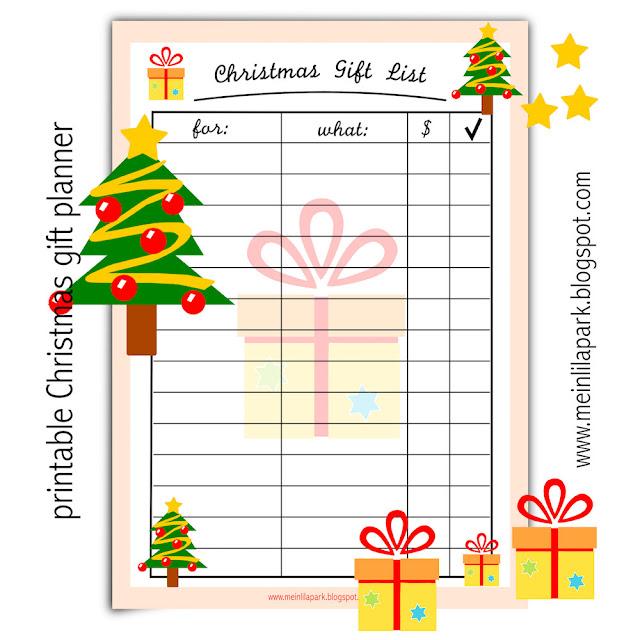 Christmas Gift Planner: Free Printable Christmas Gift List