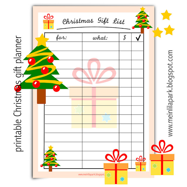 Free printable Christmas gift list - ausdruckbare ...