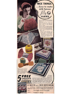 1944 Advertisement for Lily Album of Crocheted Designs, Book 1200