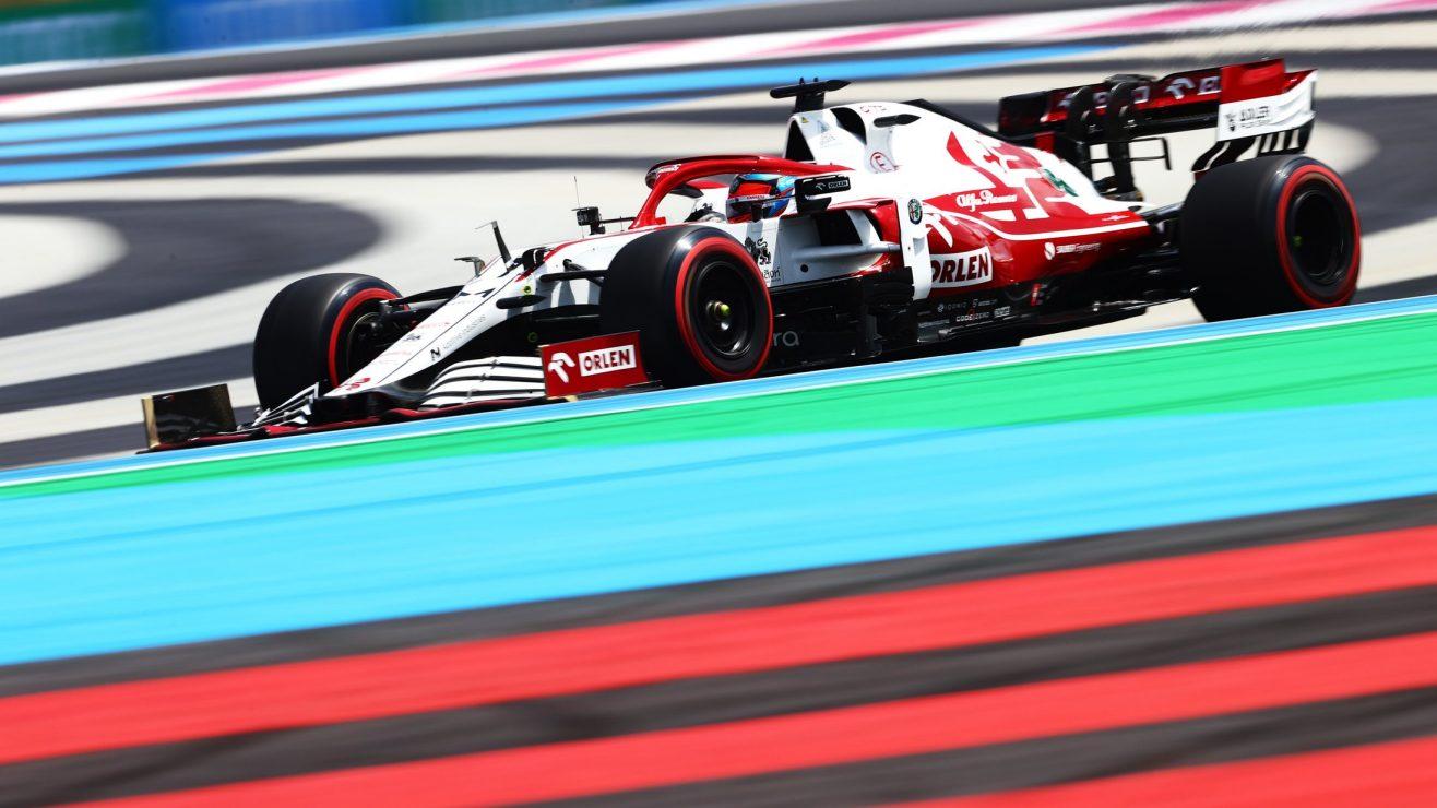 O que a equipe Alfa Romeo - sexta-feira na França