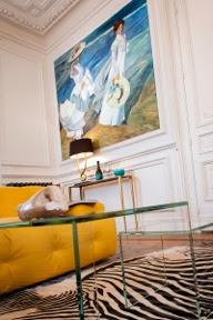 reproduction sur mesure de tableaux présente dans un hotel