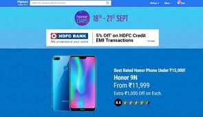 Honor Day Sale In Flipkart--Discount and offer on many honor smartphone
