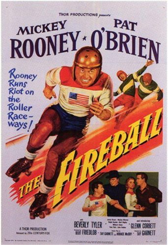 the-fireball-filme-mickey-rooney-roller derby-1950