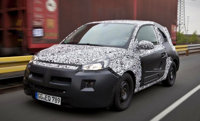 Vauxhall Adam in disguise from the front