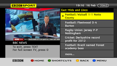 BBC REGIONAL SPORT EMIDS - BBC RED BUTTON - a516digital