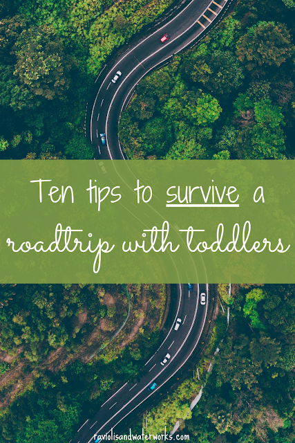 ten strategies for road trip with toddler; how to keep a young child entertained; baby road trip; toddler road trip;