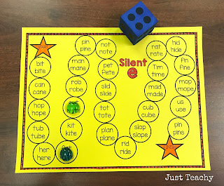 Silent E Board Game, Freebie