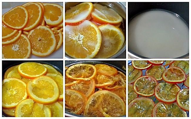 Preparación de la naranja confitada