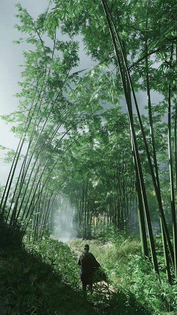 خلفيات رائعة لحصرية سوني الجديدة Ghost of Tsushima يمكن استخدامها على الهواتف الذكية