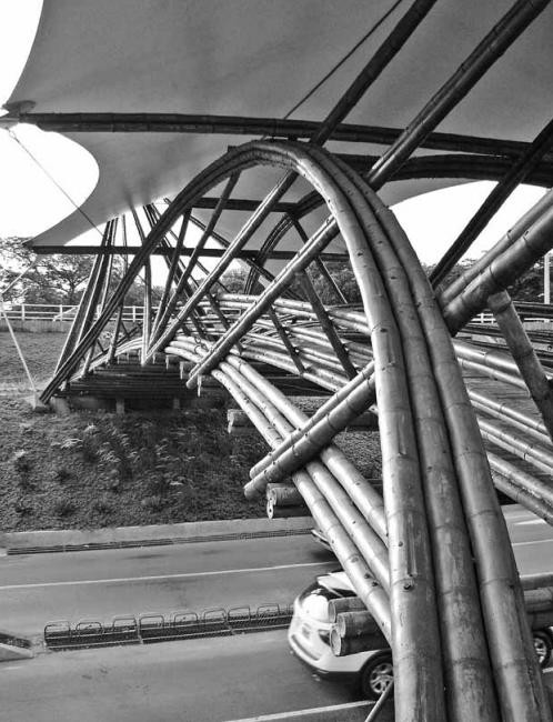 Arco compuesto por 6 guaduas. Jörg Stamm