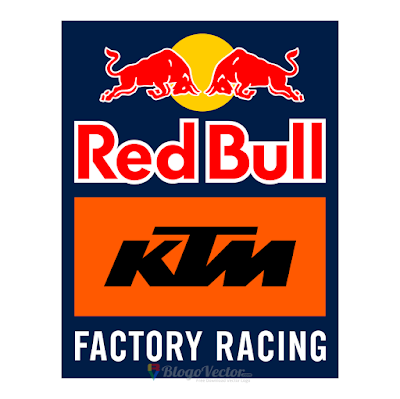 Red Bull KTM Factory Racing Logo Vector