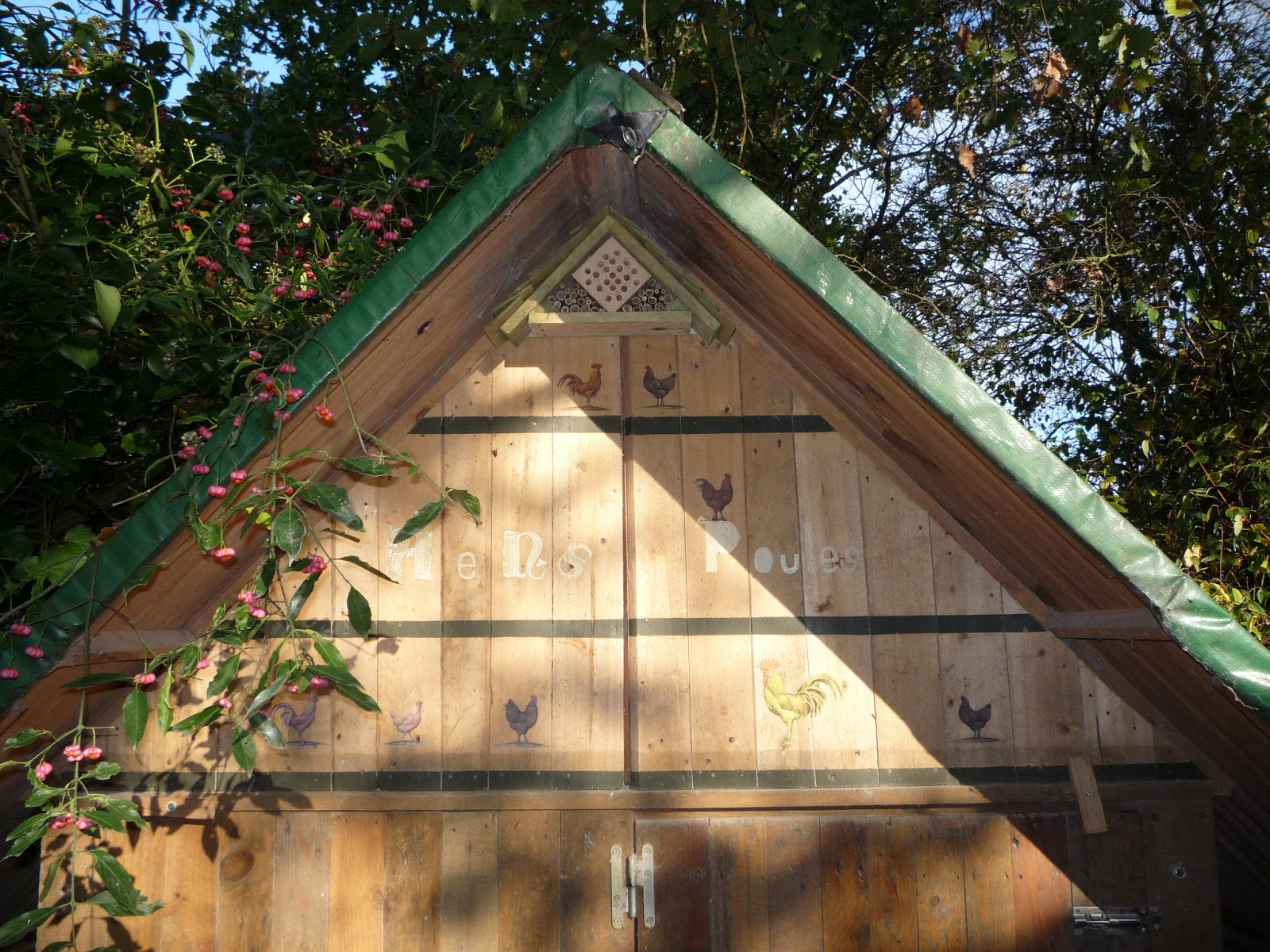 Insect house and pallet wood hen house