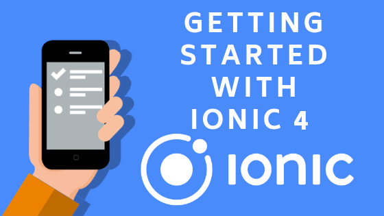 Ionic4 for beginners