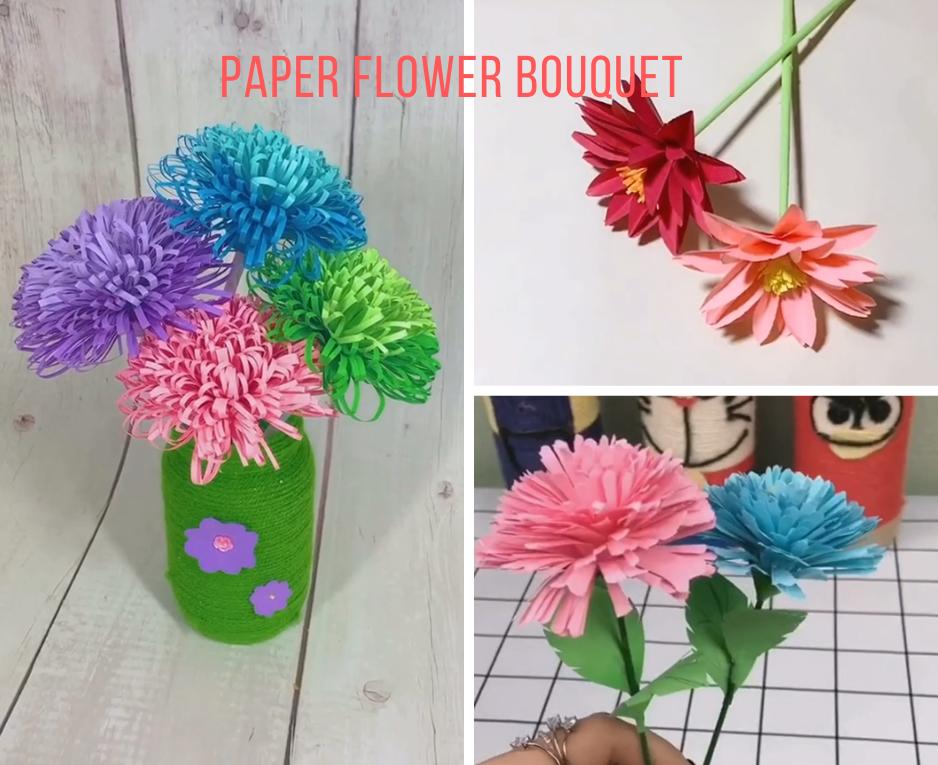 Easy Paper Flower Bouquet