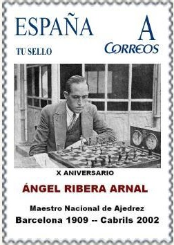 Sello con Àngel Ribera