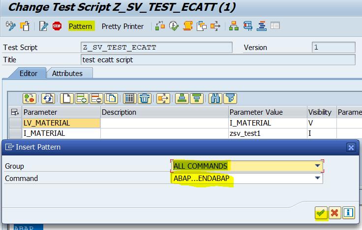 SAP ABAP Central: ABAP code in ECATT scripts