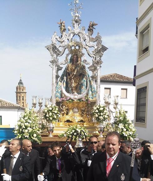 Este domingo la Virgen del Rosario procesionará por Antequera