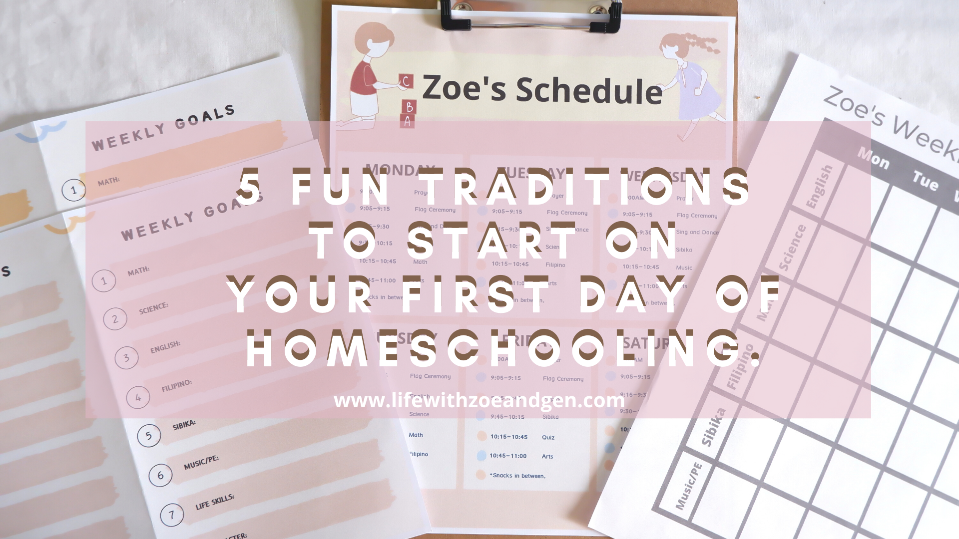 Getting ready for another school year? Here's 5 fun tradition to kick off your school year. Remember to make your first day fun and a memorable one.
