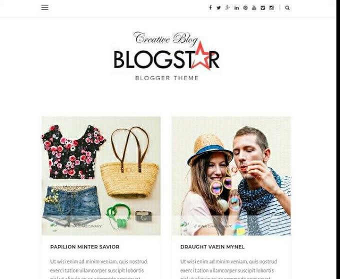 BlogStar SEO Ready Free Premium Theme Download 2020