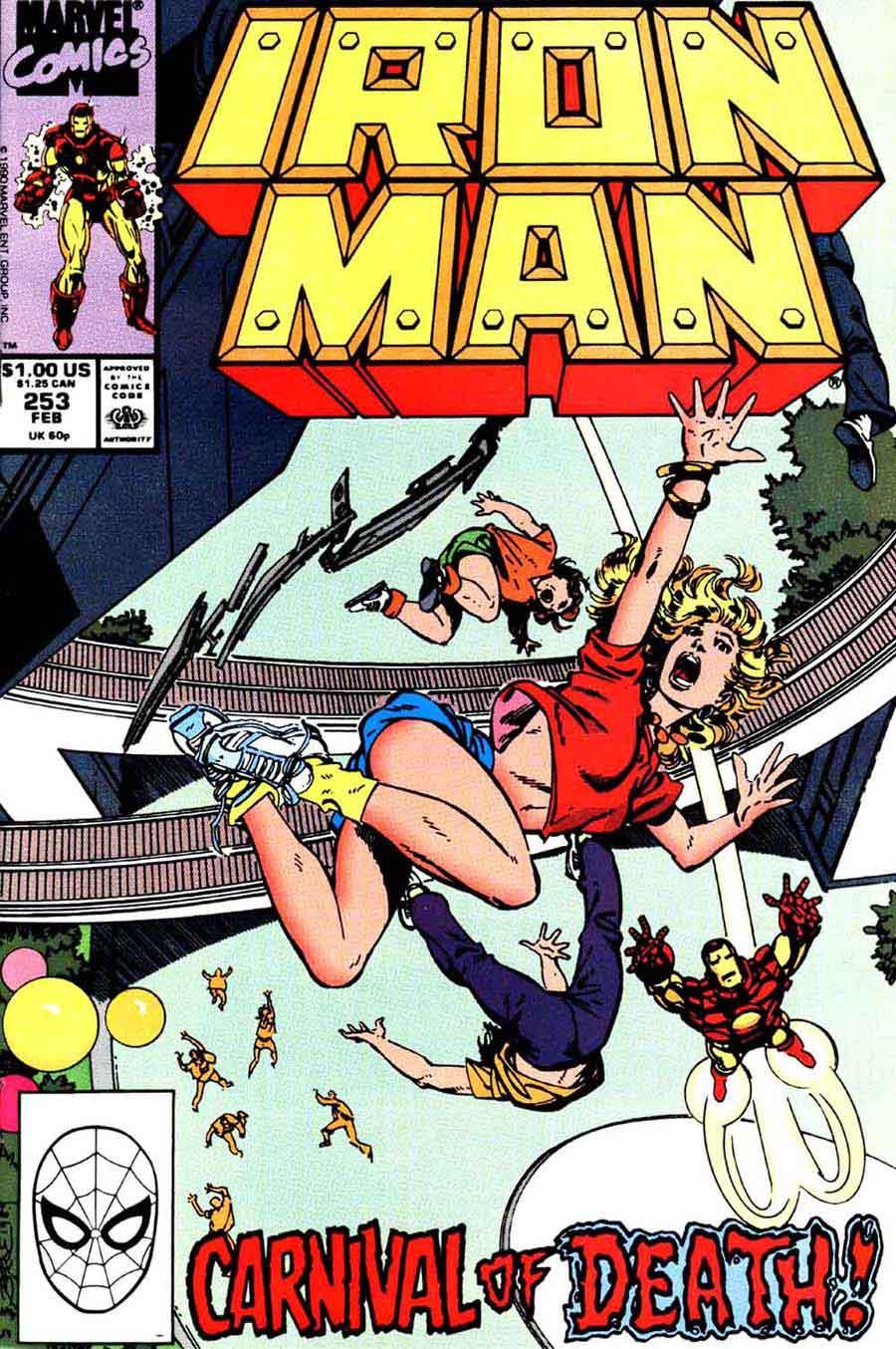 Iron Man v1 #253 marvel comic book cover art by John Byrne