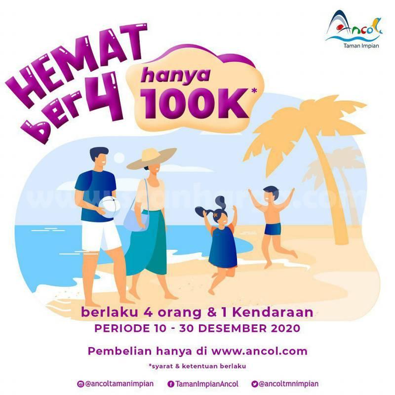 Promo Ancol Taman Impian Paket Ber-4 Harga cuma Rp 100.000
