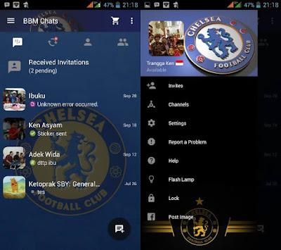 Kumpulan BBM Mod Tema Sepak Bola Versi 2.10.0.31 Apk Terbaru
