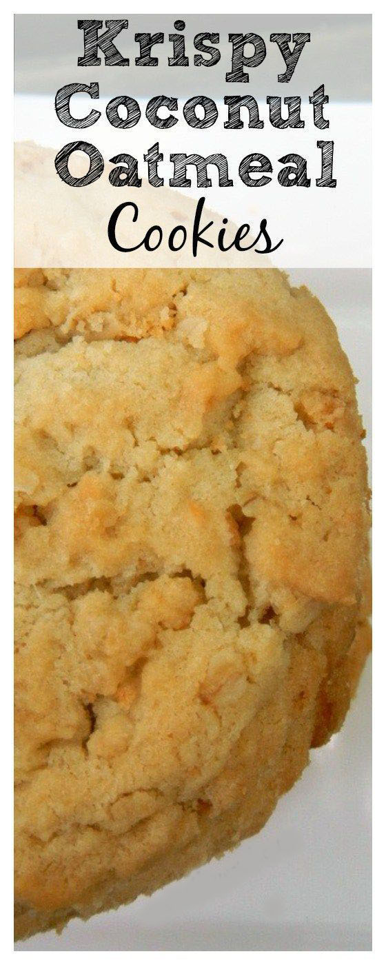 Krispy Coconut Oatmeal Cookies