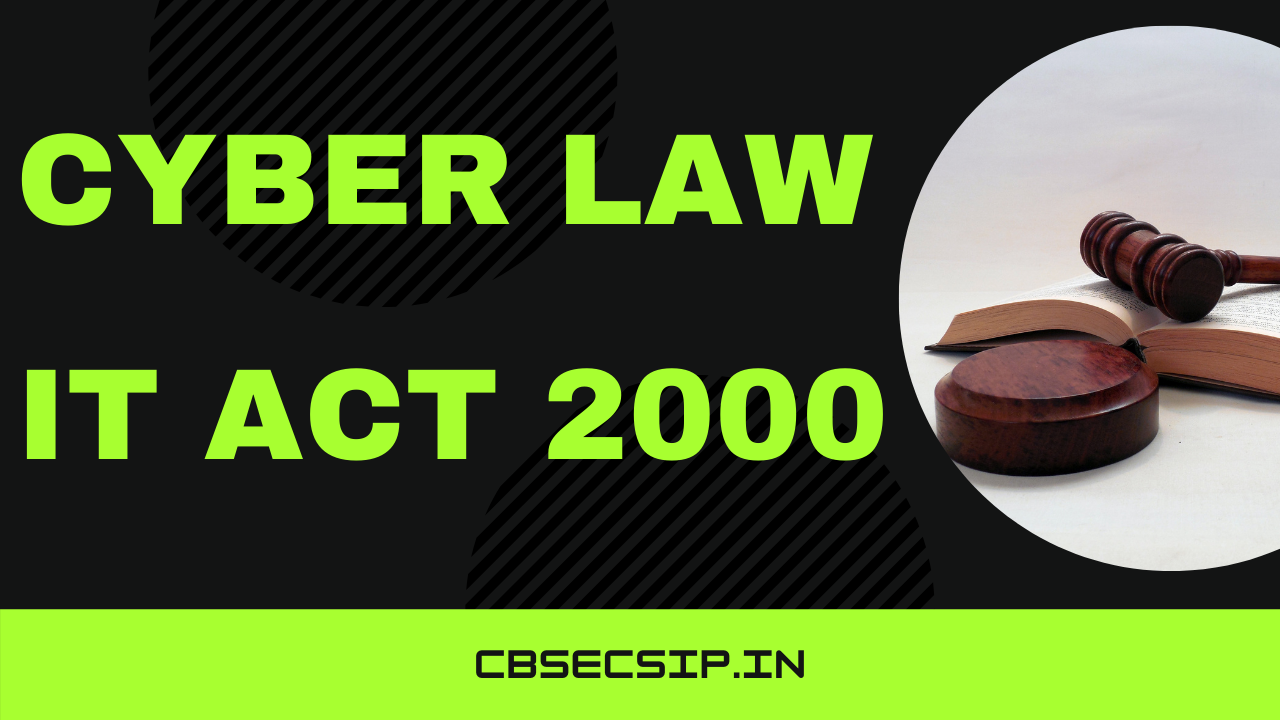 Cyber Law IT ACT 2000