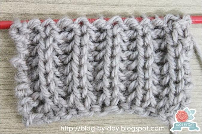 350f5aa1507e0 A barra inglesa é uma das diversas barras possíveis de fazer no tricô. Ela  porém precisa de um ponto chamado
