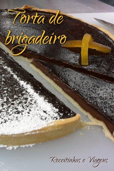 Receita de torta de brigadeiro