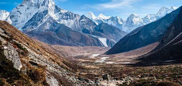 ابراز تاثير جبال الهيمالايا على المناخ في قارة اسيا