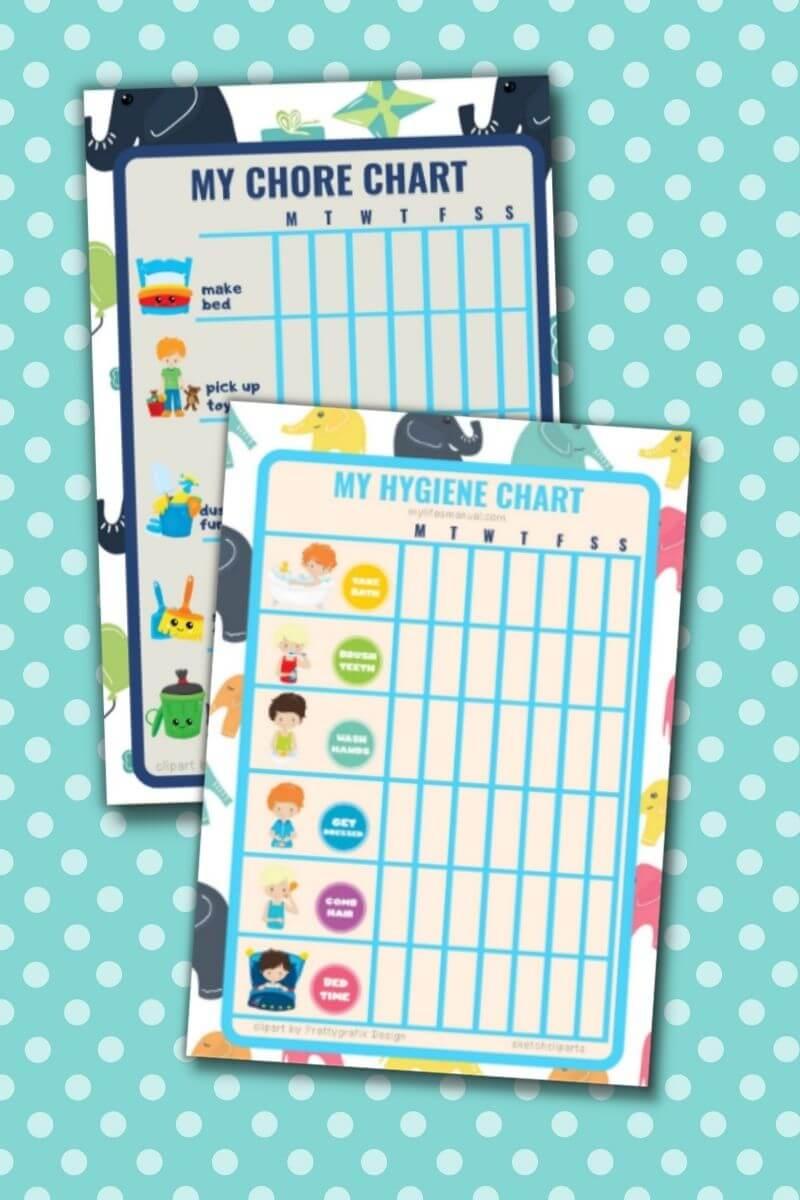 Free Kids Printable Chore Charts