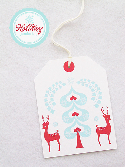 Christmas Rudolf gift tag