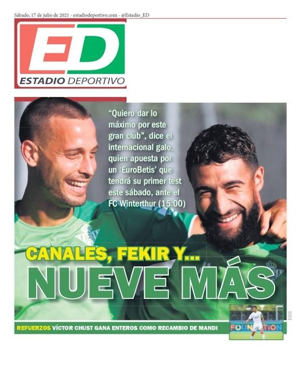 """Betis, Estadio Deportivo: """"Canales, Fekir... Y nueve más"""""""