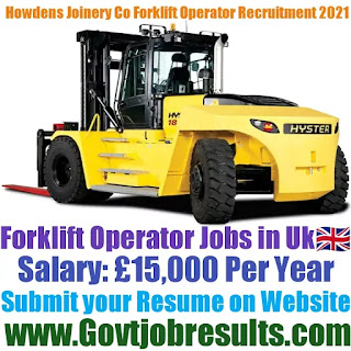 Howdens Joinery Co Forklift Operator Recruitment 2021-22