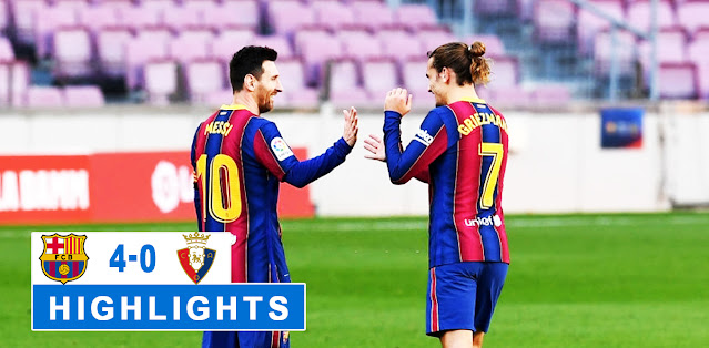 Barcelona vs Osasuna Highlights