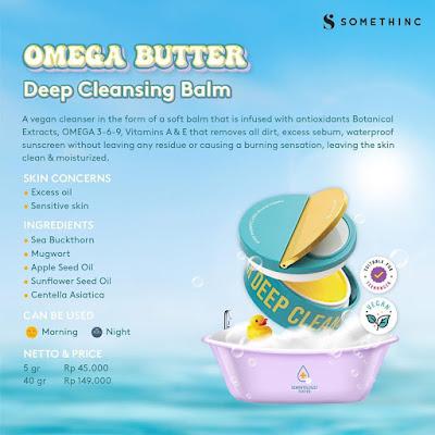 Komposisi Somethinc Omega Butter Deep Cleansing Balm
