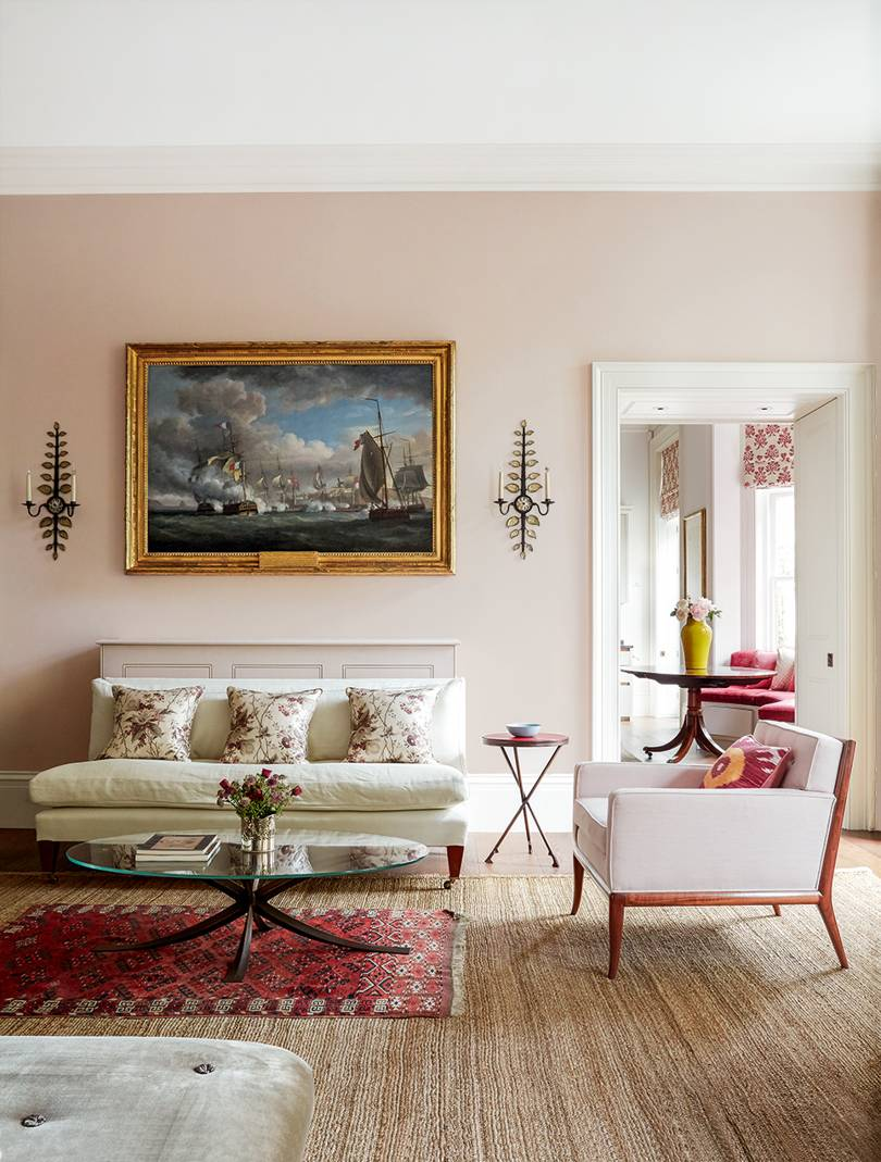 Décor: A Powdery Pink London Flat Designed by Virginia Howard