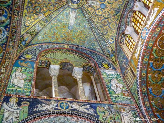 Mosaicos bizantinos na Basílica de San Vitale, em Ravena