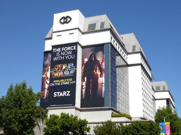 Star Wars Force Awakens Starz billboard